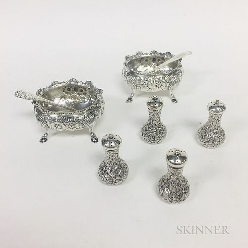 Six Pieces of American Sterling Silver Tableware