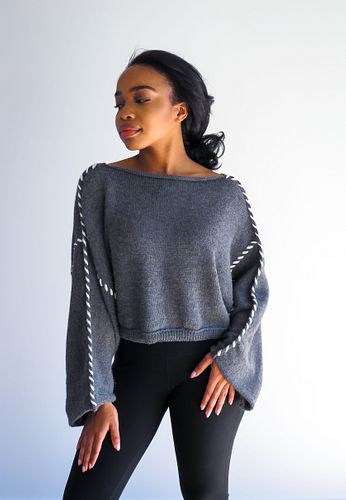 Alpaca Cropped Sweater