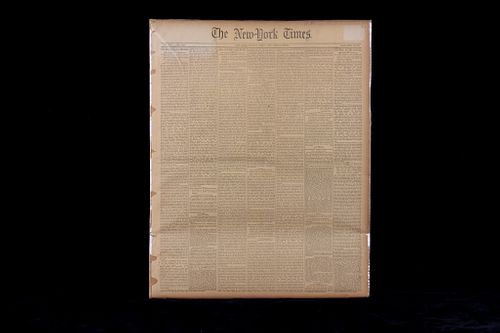 1876 New York Times General Custer's Last Fight