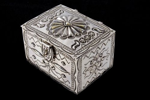 Navajo Randy Begay Jr. Sterling Box MAGNIFICIENT