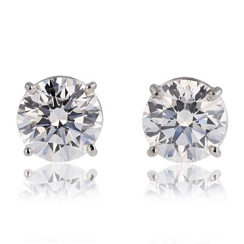 6.4 cts. Diamond Earrings Flawless D Color w/ GIA