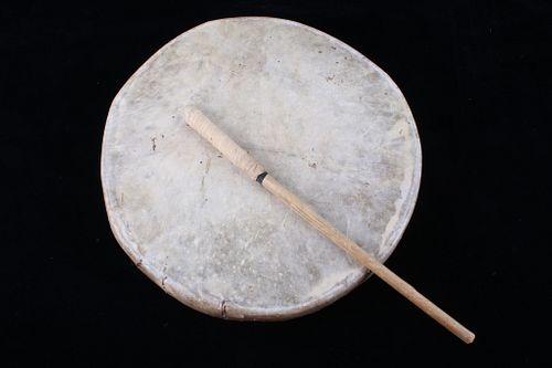 Blackfeet Indian Montana Rawhide Drum c. 1900's