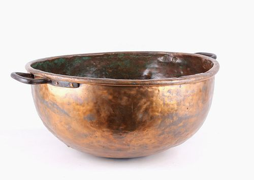1890's Dovetail Copper Confectionary Kettle Bowl