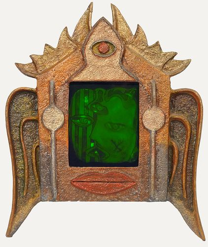 Whimsical Holographic Composite Wall Hanging