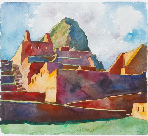 William Kohn (American, 1931-2004) Great Stairway and Huayna Picchu, 1996