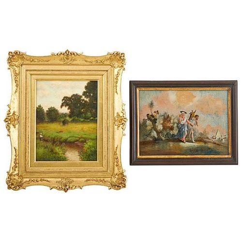 TWO 19TH/20TH C. LANDSCAPE PAINTINGS