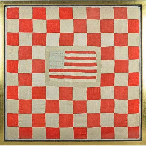 THIRTY-SIX STAR AMERICAN FLAG QUILT