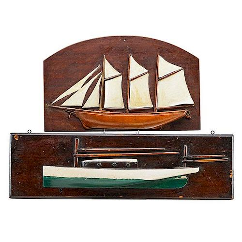 FOLK ART SAILING SHIP MODELS