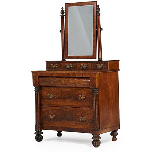 CLASSICAL MAHOGANY CHEST OF DRAWERS
