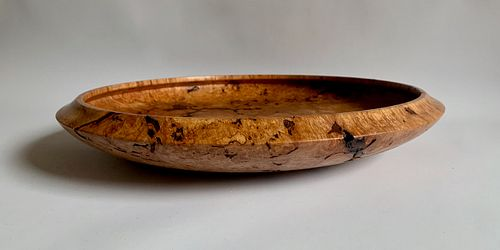 Wood Bowl/Platter-Flame Quilted Maple Burl