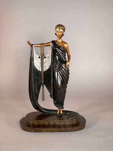 "Erte Bronze ""Sophisticated Lady"""