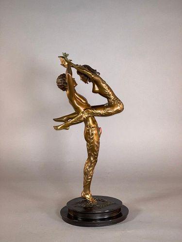 """Erte Bronze """"Amants"""""""