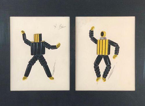 Erte Gouache, Costume Design
