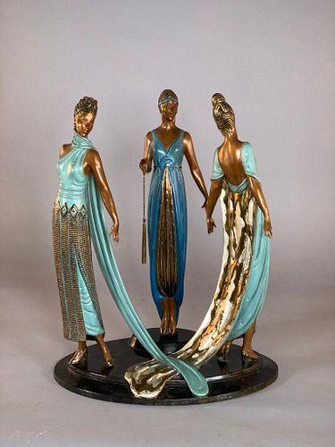 """Erte Bronze """"The Three Graces"""""""