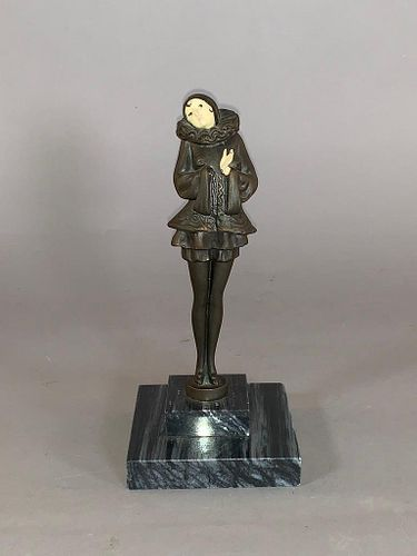 J.B.Hirsch Cast Metal Pierrot Figure