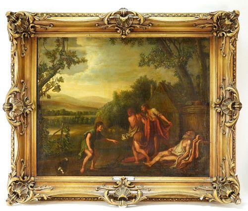 Johan Haensbergen Dutch Old Master's O/C Painting