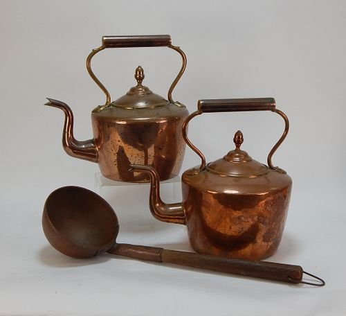 3 Copper Kettle and Ladle Domestic Grouping