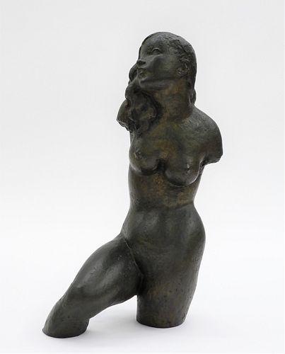 Guy Charles Revol Modernist Venus Bronze Sculpture