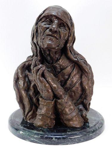 LG. Phyllis Beard Mother Teresa Bronze Icon Statue