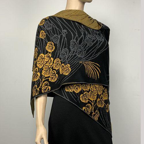 100% Cotton Knit Moonscape Shawl Scarf Wrap
