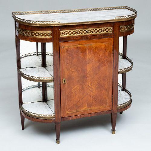Louis XVI Style Mahogany and Tulipwood Parquetry Console Desserte