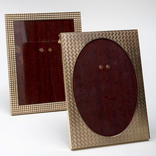 Two Cartier 14k Gold Picture Frames