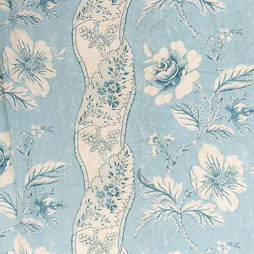 Set of Alain Gruber Printed Linen Curtains