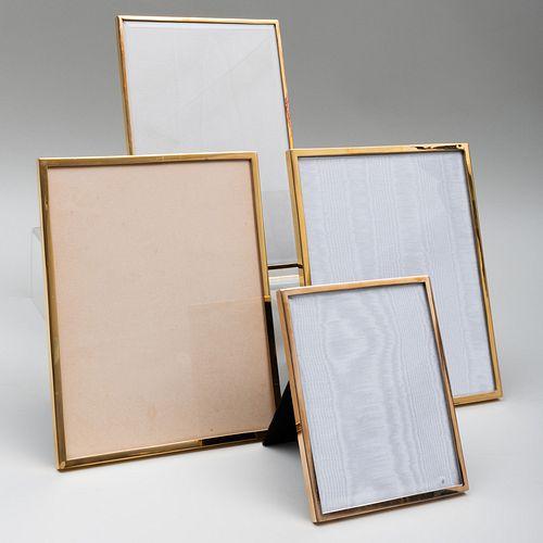 Four Jean Dinh Van Paris Silver-Gilt Picture Frames