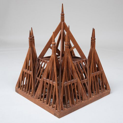 Neo-Gothic Wood Architectural Model