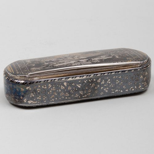 Swedish Silver-Gilt and Niello Snuff Box