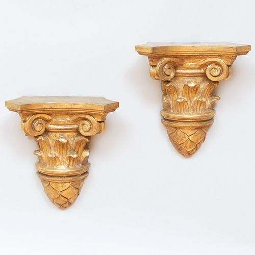 Pair of Continental Giltwood Brackets