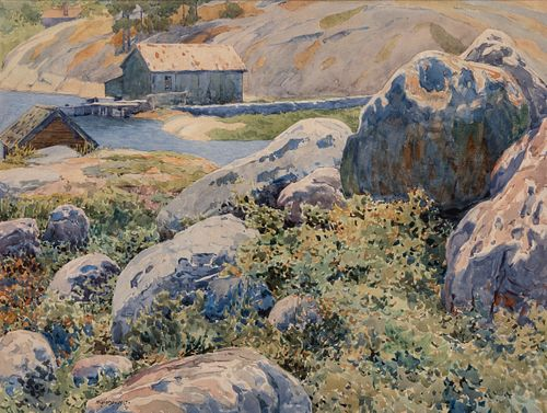 Gunnar Widforss (1879–1934): Rocky Shoreline (1915)