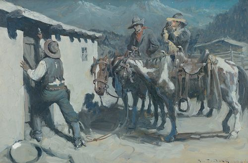 Harvey Dunn (1884–1952): Midnight Posse [or] Hungry Banditos (1908)