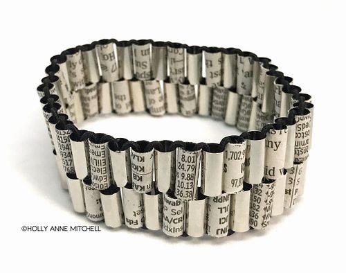 Recycled Newspaper Stock Listing Bracelet