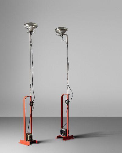 Achille and Pier Giacomo Castiglioni (Italian, 1918-2002 | Italian, 1913-1968) Pair of Toio Floor Lamps,FLOS, Italy