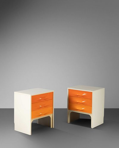 Raymond Loewy (French-American, 1893-1986) Pair of DF 2000 Nightstands, Compagnie d'Esthetique Industrielle (C.E.I.), France