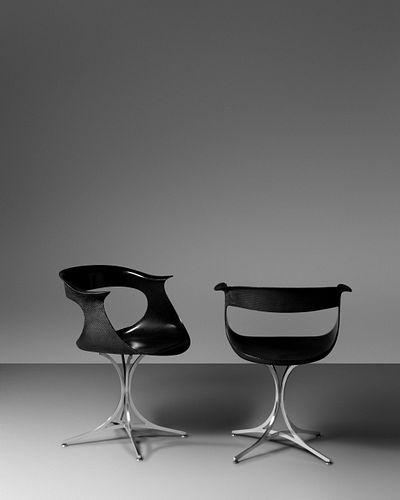 Erwine and Estelle Laverne (American, 1909-2002 | American, 1915-1997) Pair of Lotus Chairs,Laverne Originals,USA