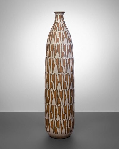 Clyde Burt (American, 1922-1981) Tall Bottle Form Vessel, c. 1964