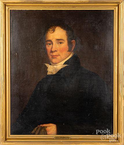 Attributed to Jacob Eichholtz oil portrait
