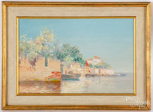 Warren Sheppard Italianate coastal scene