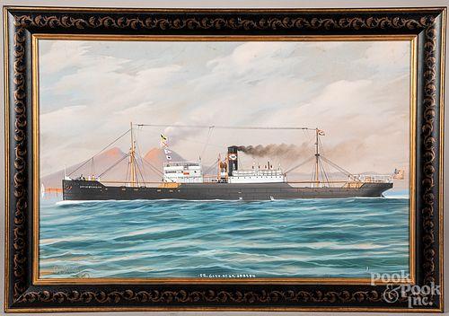 Gouache ship portrait