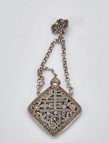 Silver Incense Pendant