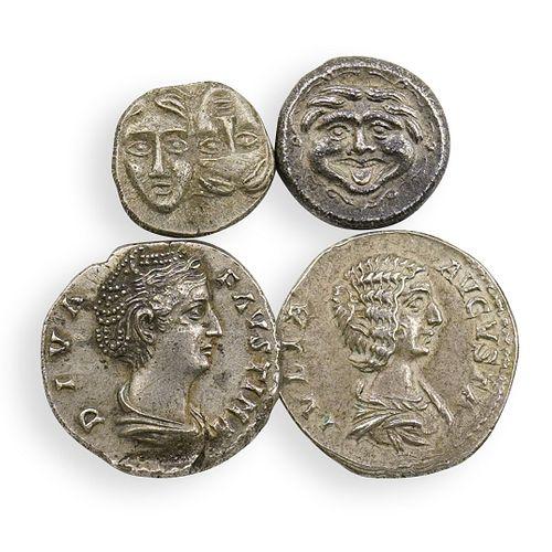 (4Pc) Ancient Roman & Greek Coins