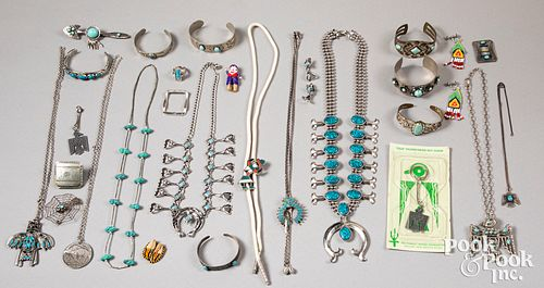 Contemporary Navajo style turquoise jewelry