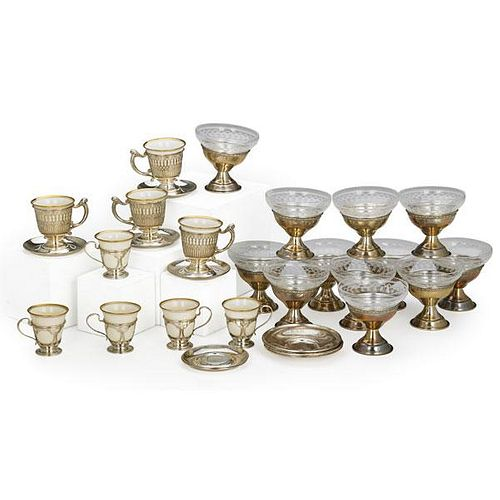 STERING SILVER DESSERT AND DEMITASSE CUPS