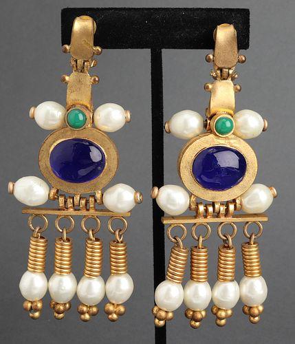 Chanel Byzantine Chandelier Earrings, c. 1970