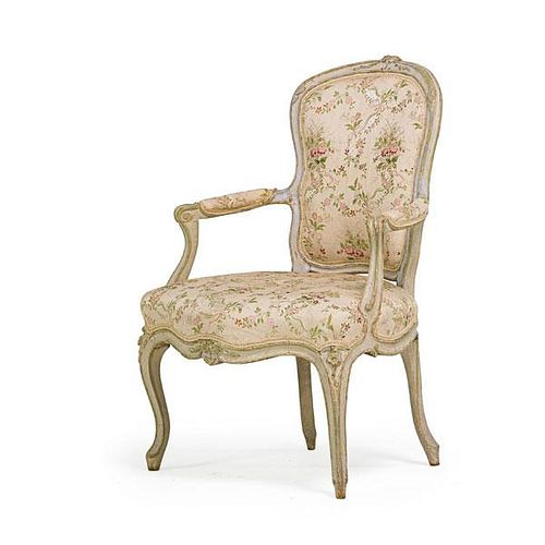 LOUIS XV PAINTED ARMCHAIR