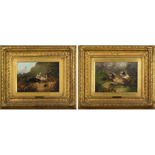 J. LANGLOIS (British, 19th c.) TWO WORKS