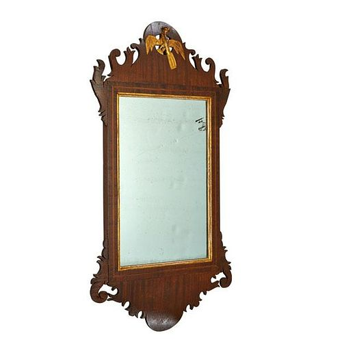 GEORGE III FRETWORK MIRROR