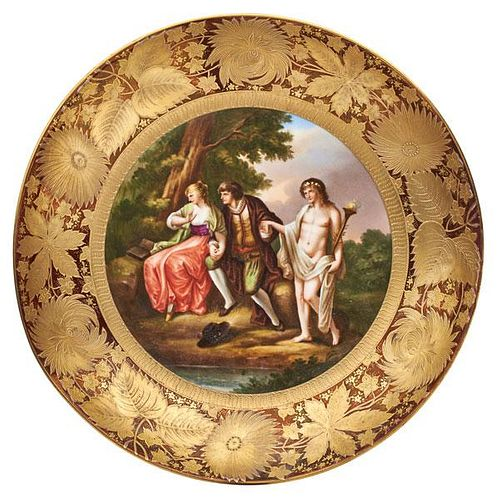 VIENNA STYLE PORCELAIN LOW BOWL
